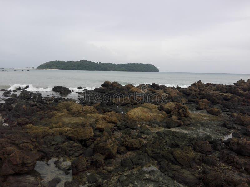 Praia de Ngapali (Myanmar) fotografia de stock