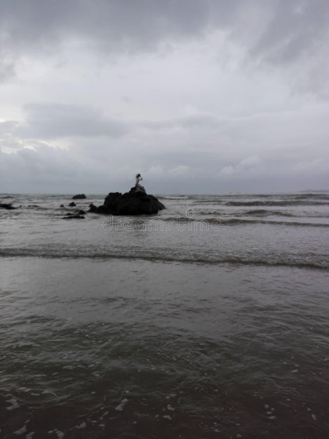 Praia de Ngapali (Myanmar) imagem de stock royalty free