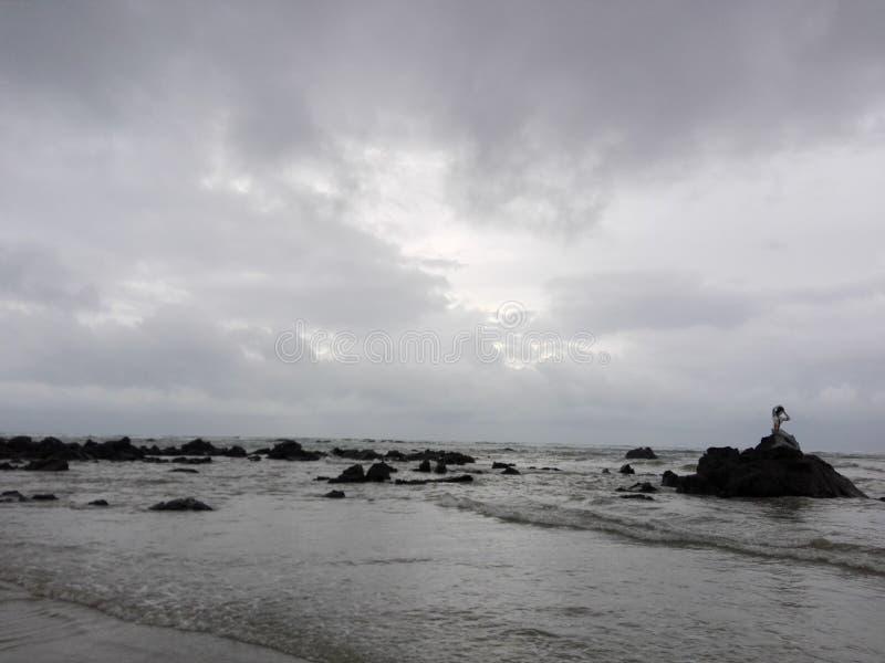 Praia de Ngapali (Myanmar) foto de stock