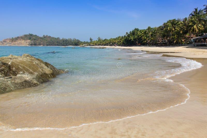 Praia de Ngapali - Myanmar Burma imagem de stock royalty free