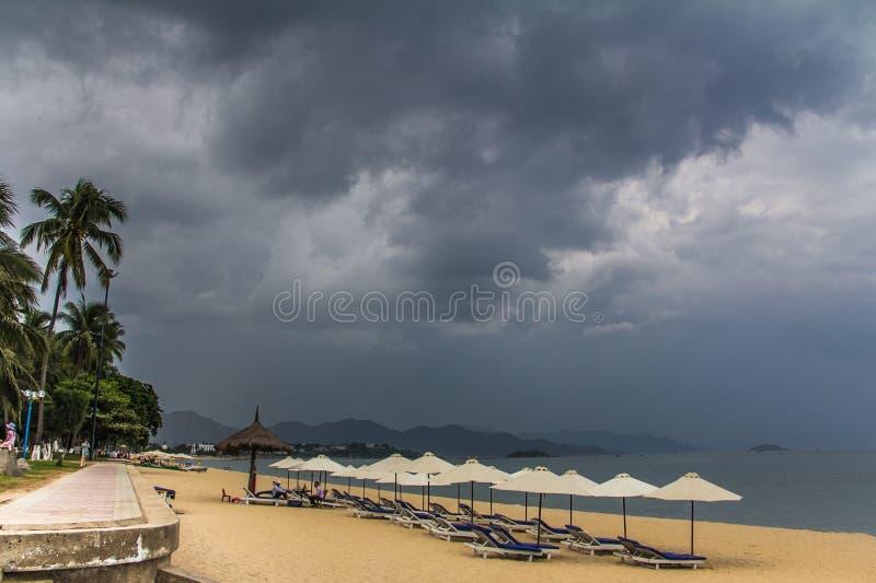 Praia de Nha Trang imagens de stock