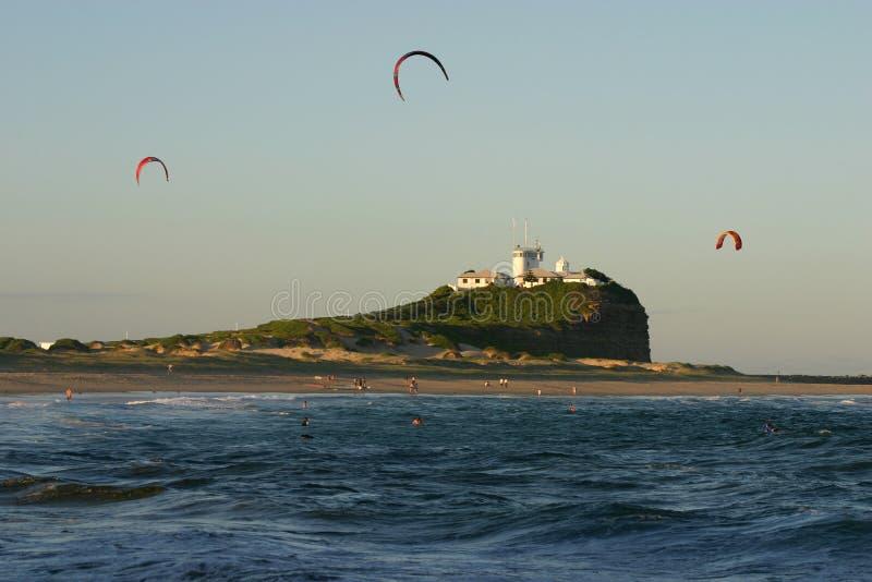 Praia de Nobby - Newcastle imagens de stock royalty free