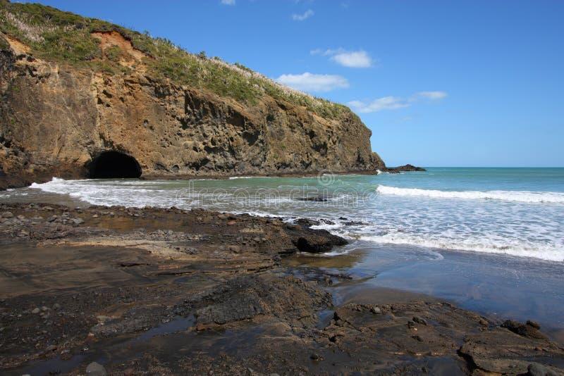 Praia de Nova Zelândia fotografia de stock royalty free