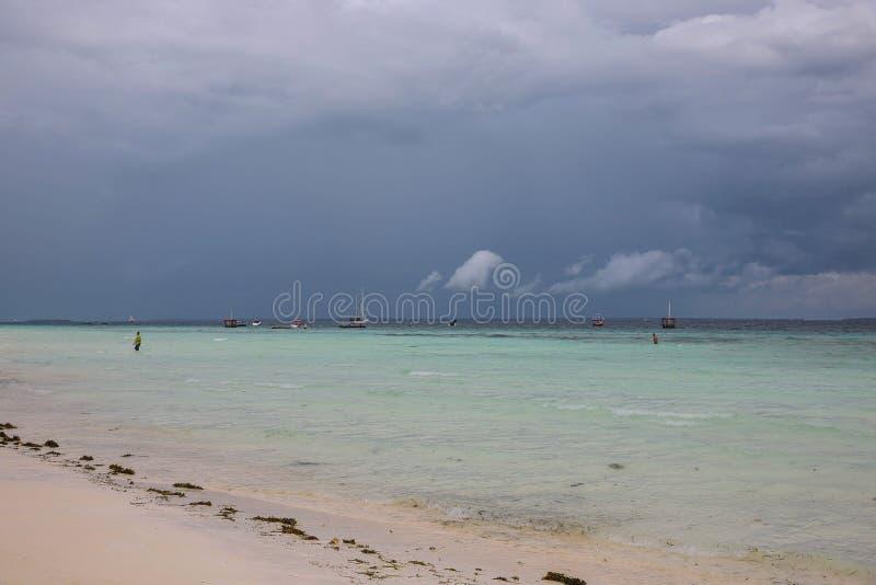 Praia de Nungwi de Zanzibar foto de stock