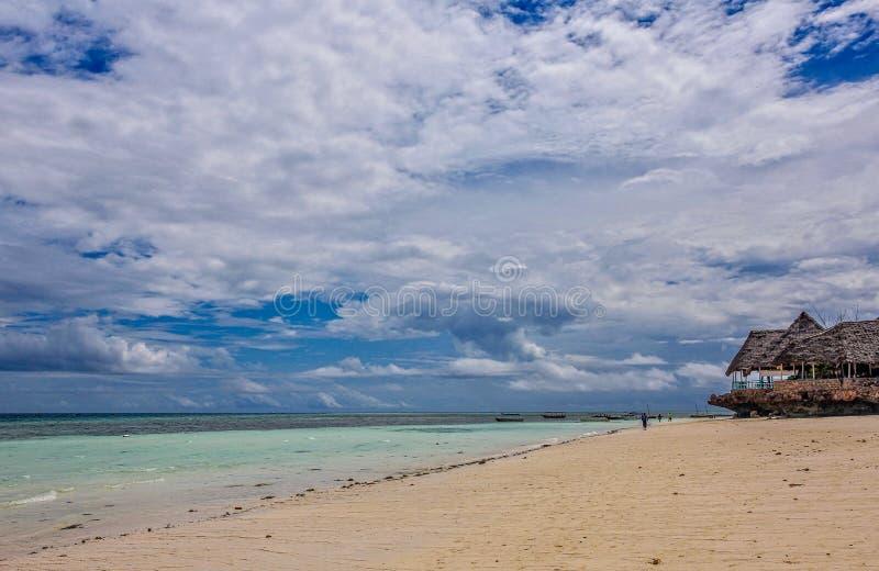 Praia de Nungwi de Zanzibar imagens de stock