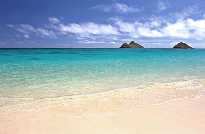 Praia de Oahu, Havaí fotografia de stock