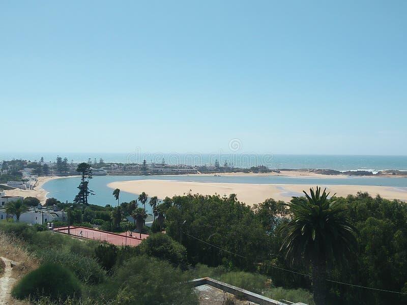 Praia de Oualidia foto de stock