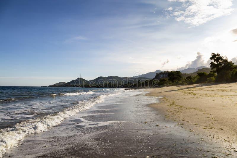 Praia de Paga da tarde fotos de stock royalty free