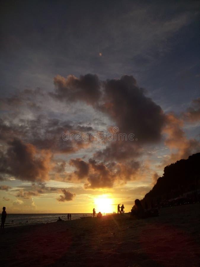 Praia de Pandawa na ilha de bali imagens de stock