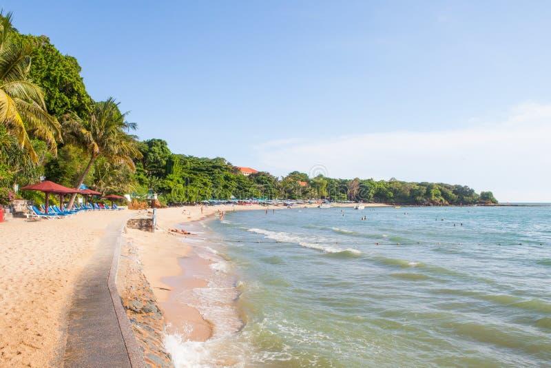 Praia de Pattaya, Tailândia fotografia de stock royalty free