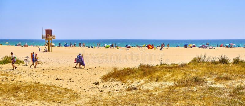 Praia de Playa de Bolonia. Tarifa, Cádiz, Andaluzia, Espanha fotos de stock