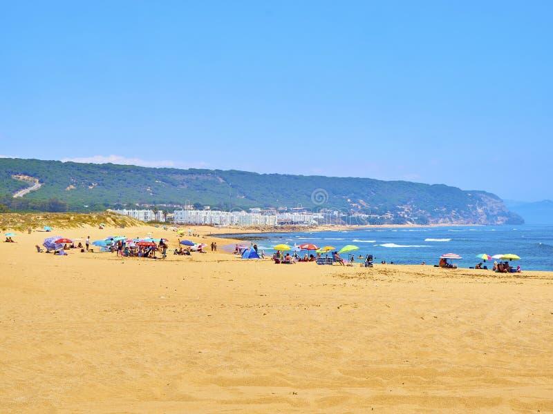 Praia de Playa de los Caños de Meca Barbate, Espanha fotos de stock royalty free