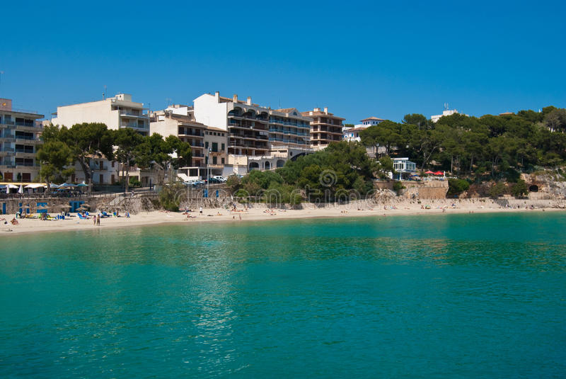 Praia de Porto Cristo, Majorca, Spain fotos de stock royalty free
