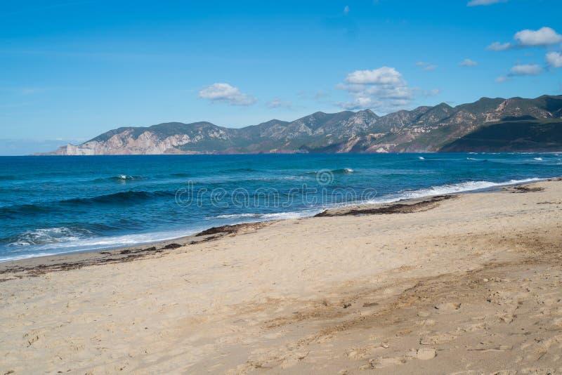 Praia de Porto Paglia foto de stock