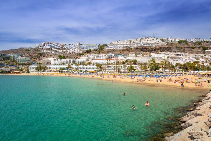 Praia de Porto Rico em Gran Canaria imagens de stock royalty free
