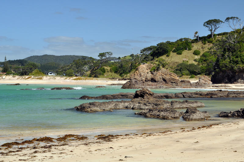 Praia de Prestine Costa de Tutukaka imagens de stock