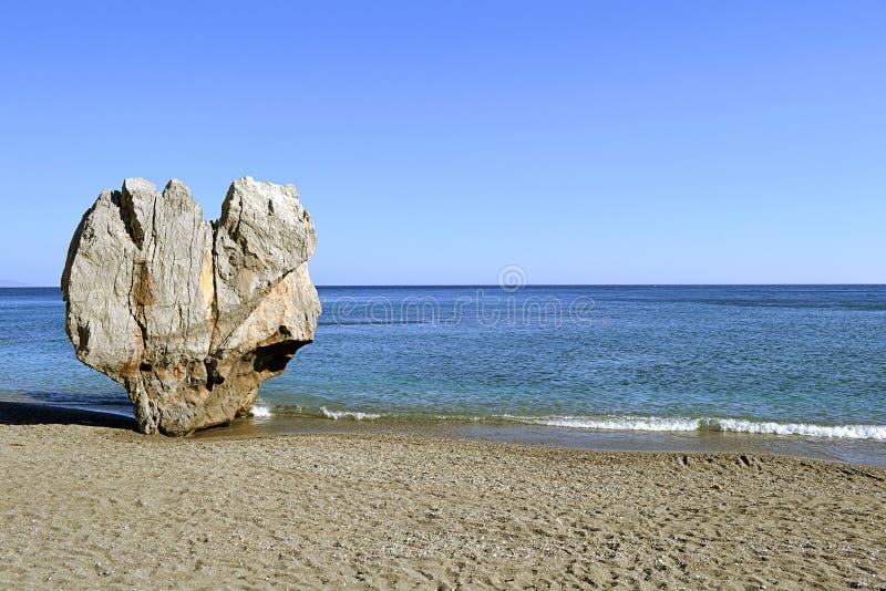 Praia de Preveli em Crete, Greece fotos de stock royalty free