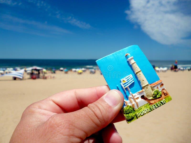 Praia de Punta del este fotos de stock