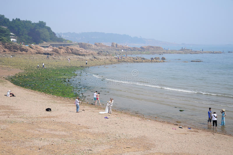 Praia de Qingdao China fotos de stock
