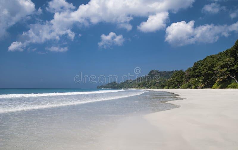 Praia de Radhanagar imagens de stock