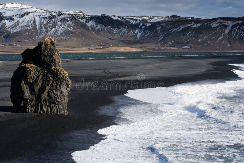 Praia de Reynisfjara fotografia de stock