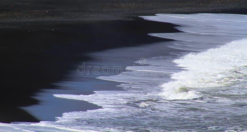 Praia de Reynisfjara perto de Vik, Islândia imagem de stock