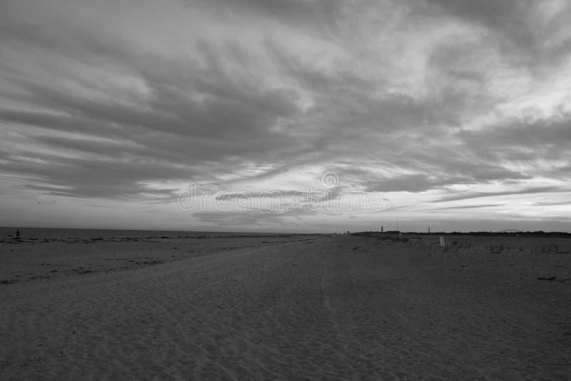 Praia 2 de Robert Moses do por do sol imagem de stock