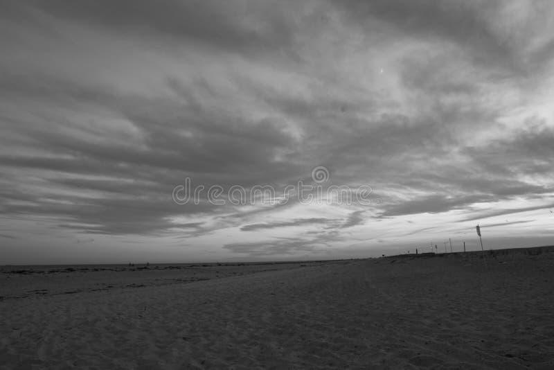 Praia 4 de Robert Moses do por do sol fotos de stock royalty free