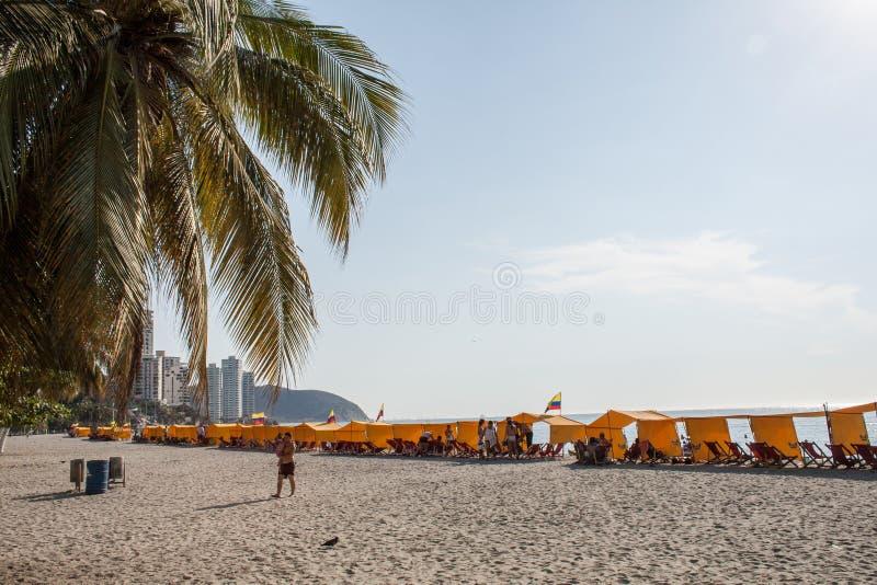 Praia de Rodadero foto de stock