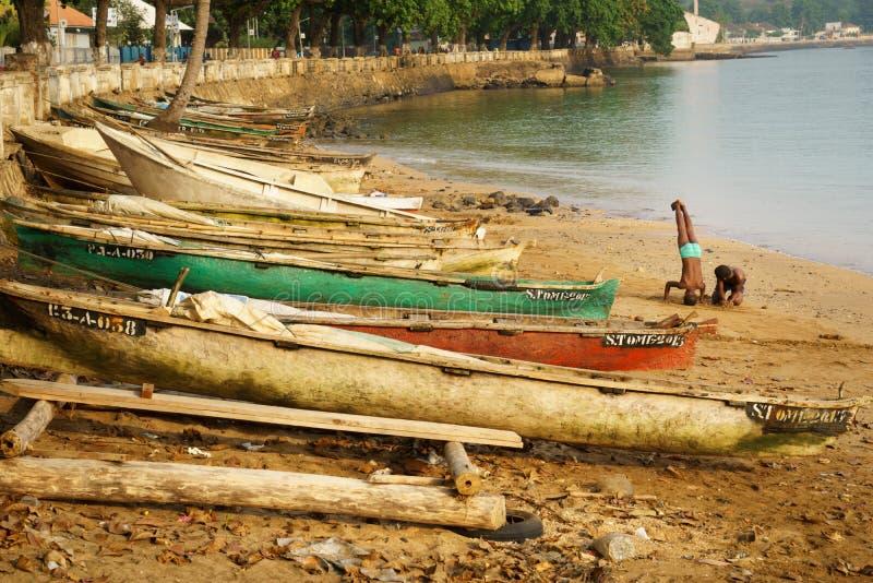 Praia de São Tomé foto de stock
