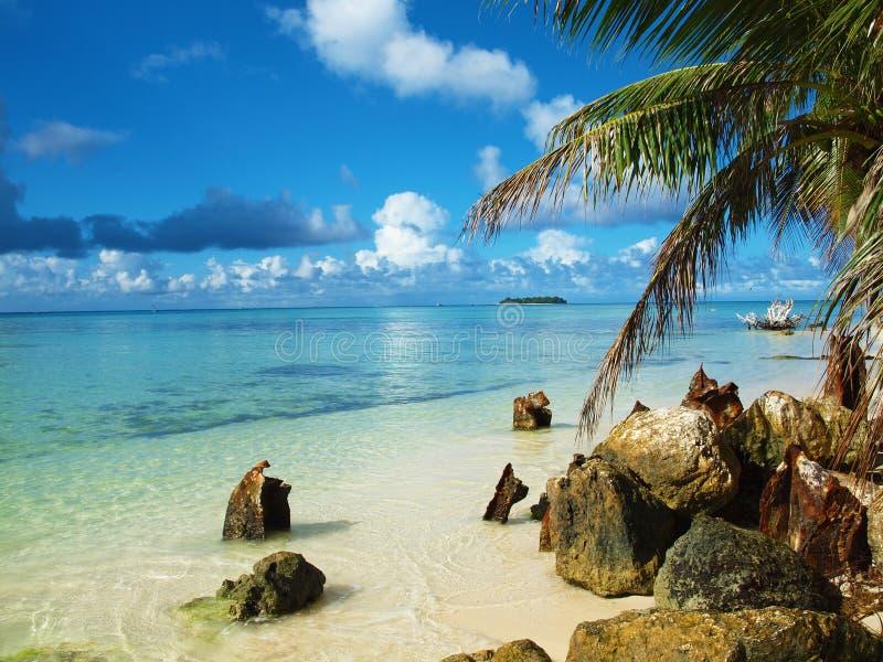 Praia de Saipan imagem de stock royalty free