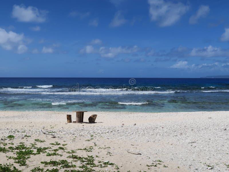 Praia de Saipan fotos de stock
