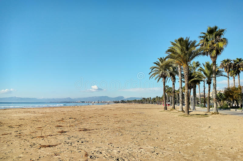 Praia de Salou imagem de stock royalty free