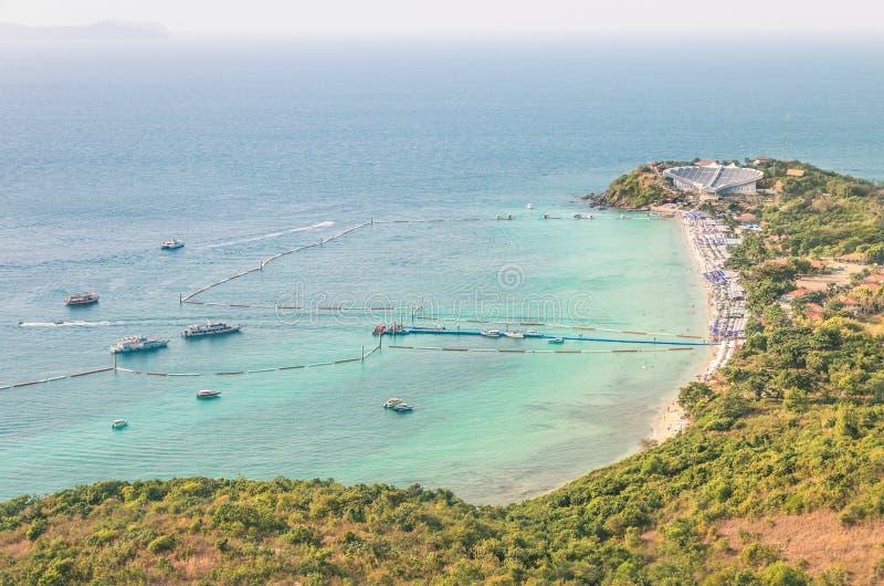 Praia de Samae em Ko Larn (Lan) - Pattaya Tailândia de Ko imagem de stock royalty free