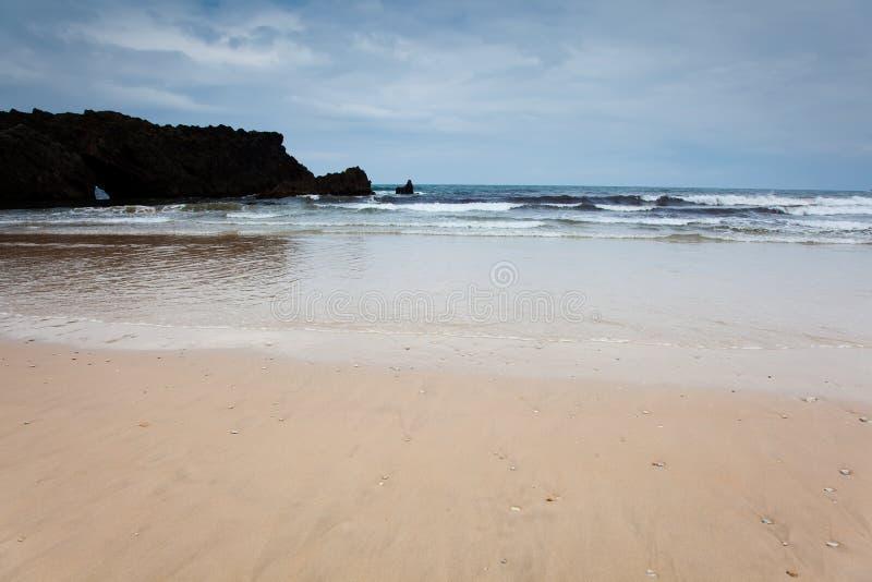 Praia de San Antolin foto de stock royalty free
