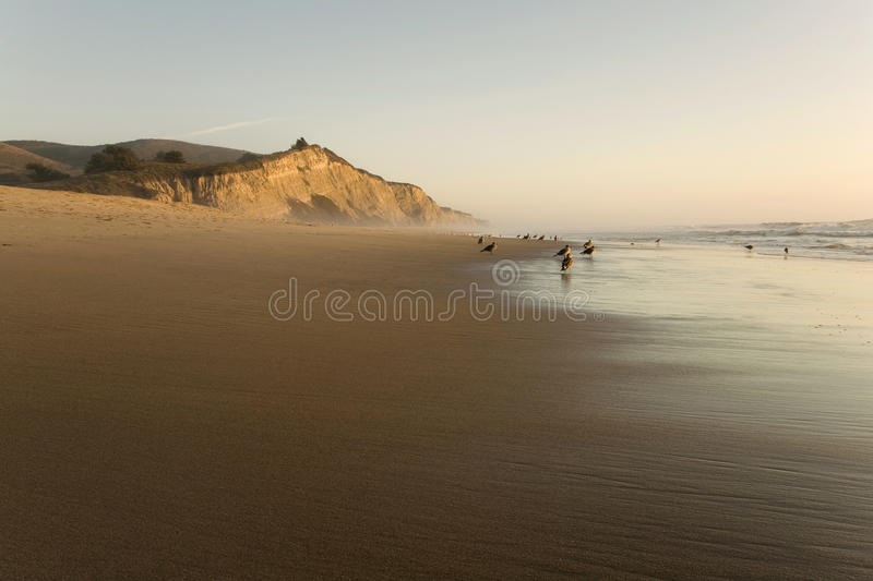 Praia de San Gregorio no por do sol foto de stock royalty free