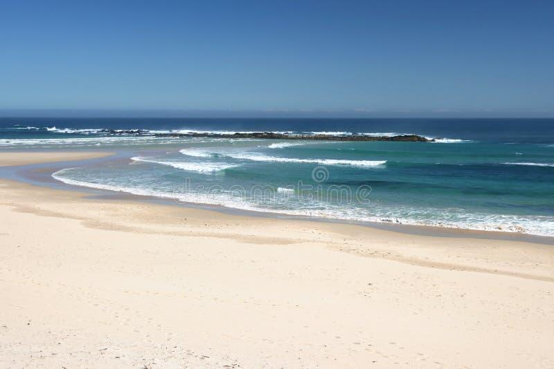 Praia de Sandy imagens de stock