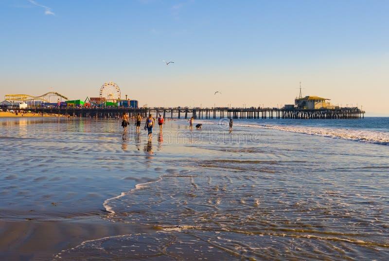 Praia de Santa Monica imagens de stock royalty free