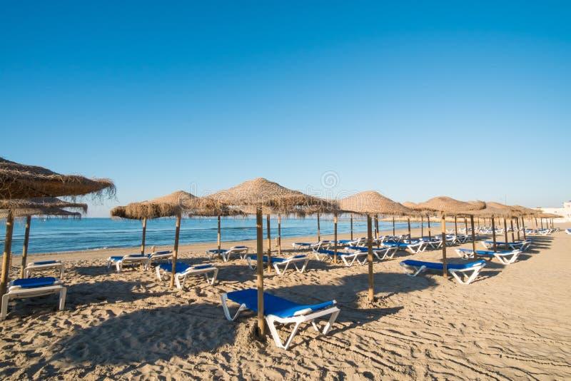 Praia de Santa Pola imagens de stock