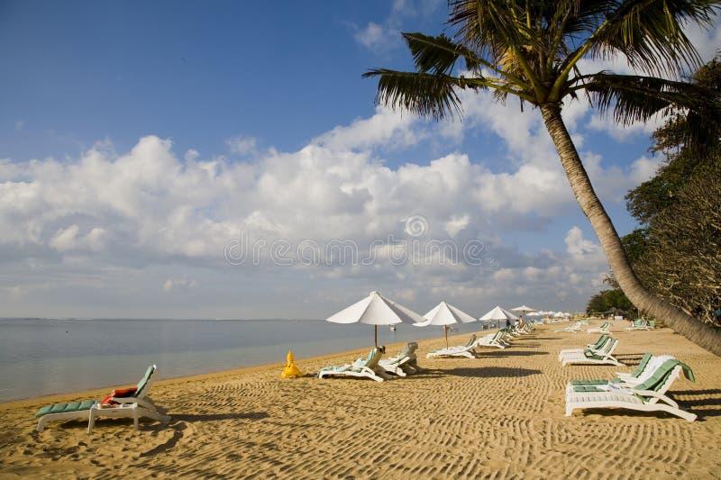 Praia de Sanur foto de stock