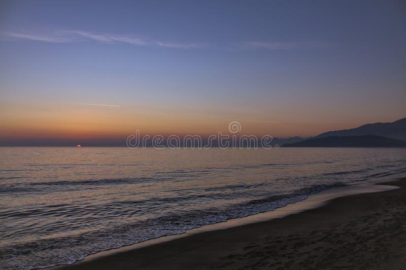Praia de Scauri - Itália sul imagens de stock royalty free