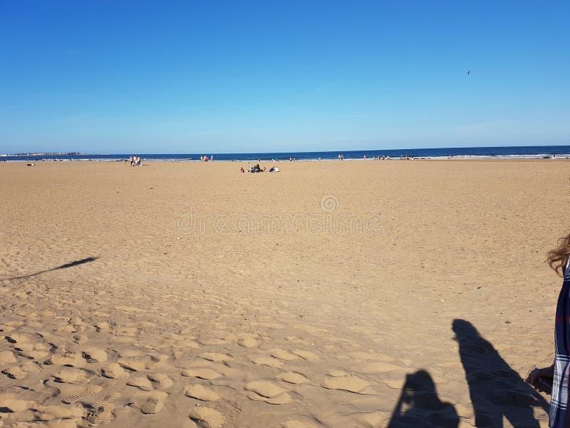 Praia de Seaton Carew imagens de stock