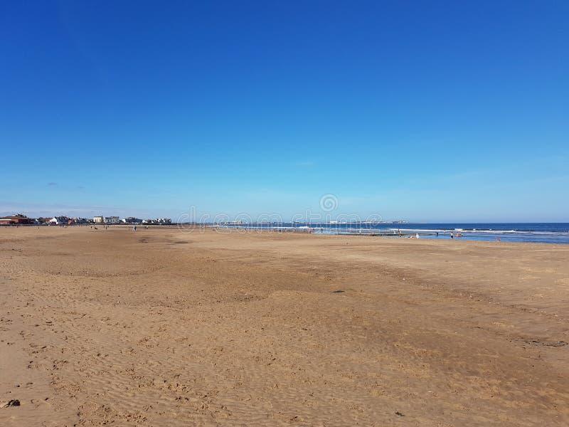 Praia de Seaton Carew foto de stock