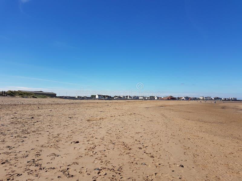 Praia de Seaton Carew fotos de stock royalty free