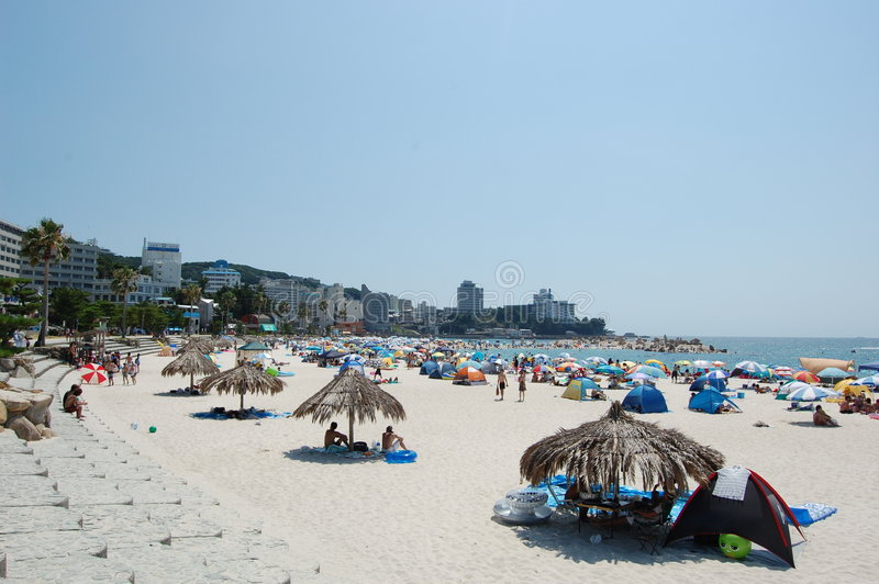 Praia de Shirahama foto de stock royalty free