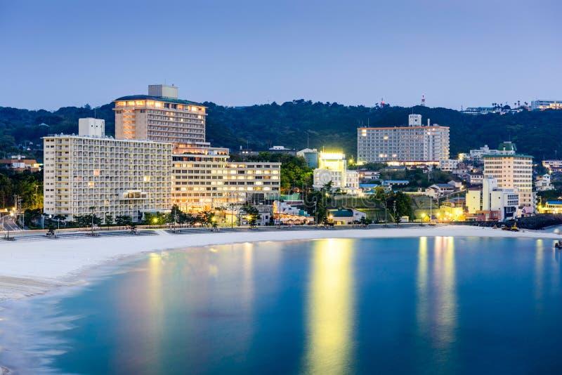 Praia de Shirahama, Japão foto de stock royalty free