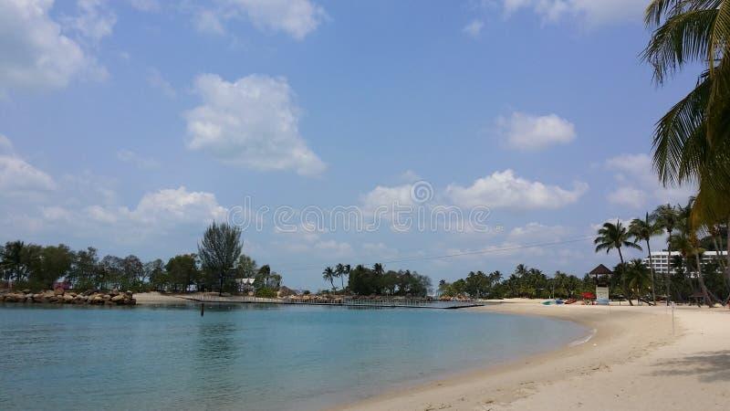 Praia de Siloso fotografia de stock