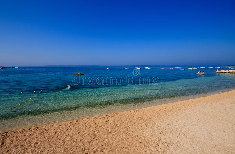 Praia de Simuni - Croatia imagem de stock
