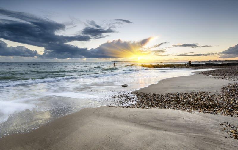 Praia de Solent imagem de stock