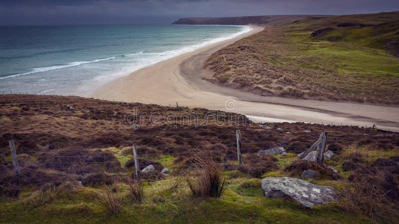 Praia de Stornoway Tolsta corajosa & Uncluttered fotografia de stock
